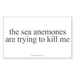 anemones.oval.sticker Sticker (Rectangle 50 pk)
