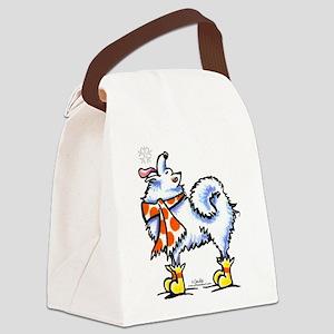 Samoyed Eskie Snowflake Canvas Lunch Bag