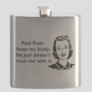 Paul Ryan Loves My Body Flask