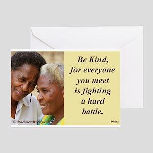 'Be Kind' Greeting Card