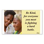 'Be Kind' Sticker (Rectangle)