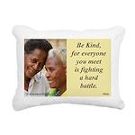 'Be Kind' Rectangular Canvas Pillow