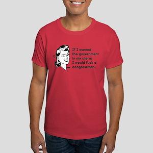 Government in My Uterus Dark T-Shirt