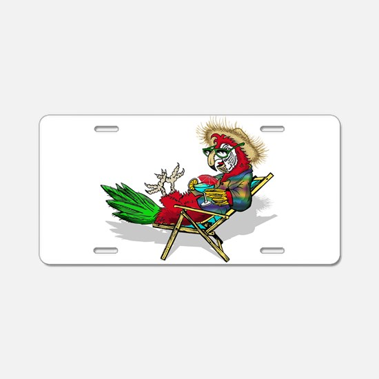 Parrot Beach Chair Aluminum License Plate