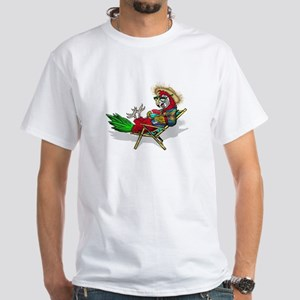 Parrot Beach Chair White T-Shirt