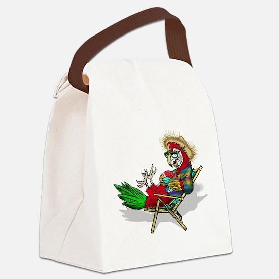 Parrot Beach Chair Canvas Lunch Bag