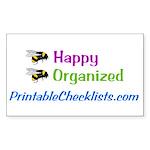 Bee Happy Sticker (Rectangle 50 pk)