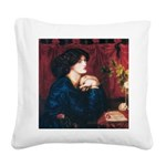 Jane Morris by Rossetti Square Canvas Pillow