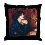 Jane Morris by Rossetti Throw Pillow