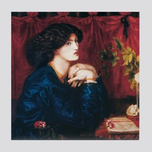 Jane Morris by Rossetti Tile Coaster