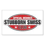 Stubborn Swiss Club Sticker (Rectangle 50 pk)