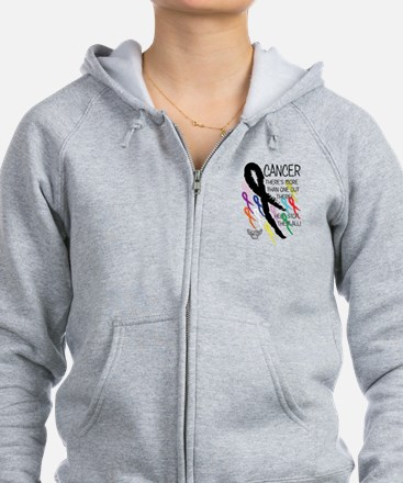 Cancer more than one Zipped Hoodie