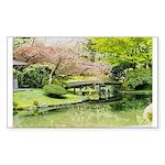 Cherry Blossom Bridge Sticker (Rectangle 50 pk)