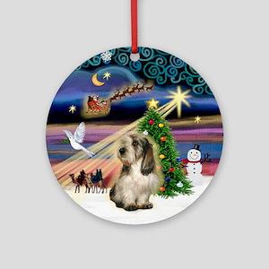 xmas Magic & PBGV Ornament (Round)