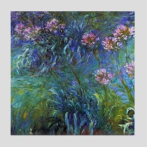 Claude Monet Jewelry Lilies Tile Coaster