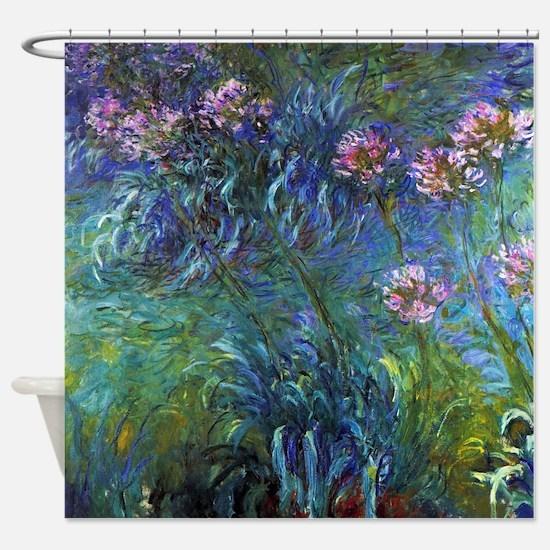 Claude Monet Jewelry Lilies Shower Curtain