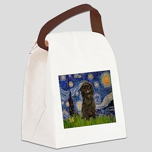 Starry Night / Affenpinscher Canvas Lunch Bag