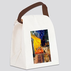 Cafe - Airedale (S) Canvas Lunch Bag