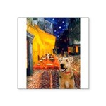 Cafe - Airedale (S) Square Sticker 3