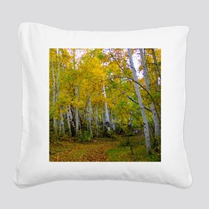 Autumn Yellow Square Canvas Pillow