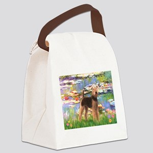 Lilies#2 - Airedale #6 Canvas Lunch Bag