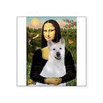 MonaLisa-AKita2 Square Sticker 3