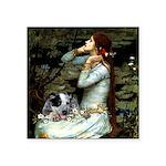 Ophelia - Aussie Cattle Pup Square Sticker 3