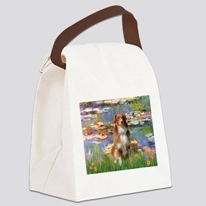 Lilies2-Aussie Shep (#4) Canvas Lunch Bag