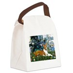 Lilies (1) with a Basenj Canvas Lunch Bag