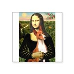Mona Lisa-Basenji #1 Square Sticker 3