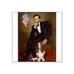 Lincoln / Basset Hound Square Sticker 3