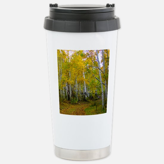 Autumn Yellow Stainless Steel Travel Mug
