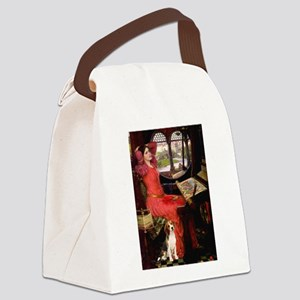 The Lady & her Beagle Canvas Lunch Bag