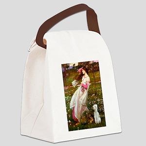 Windflowers/Bedlington T Canvas Lunch Bag