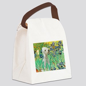Irises /Bedlington T Canvas Lunch Bag