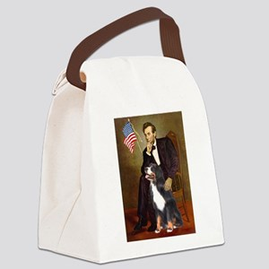 5.5x7.5-Lincoln-Bernese Canvas Lunch Bag