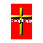 Deophagy Cross Sticker (Rectangle 50 pk)
