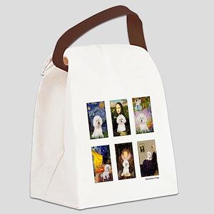 FamousArt-BichonFrise-CLEAR Canvas Lunch Bag