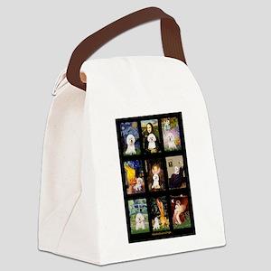 Bichon Masterpieces (A) Canvas Lunch Bag