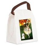 Ballet Dancer & Bichon Canvas Lunch Bag