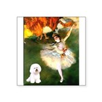 Ballet Dancer & Bichon Square Sticker 3