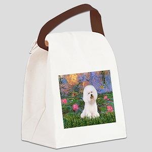 Lilies 4 / Bichon 1 Canvas Lunch Bag