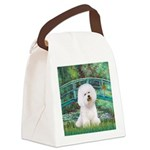 Bridge & Bichon Canvas Lunch Bag