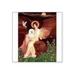 Seated Angel & Bolognese Square Sticker 3