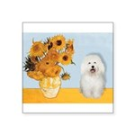 Sunflowers & Bolognese Square Sticker 3
