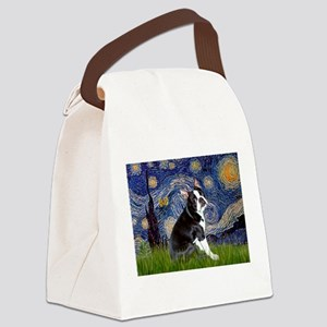 Starry Night Boston Ter Canvas Lunch Bag