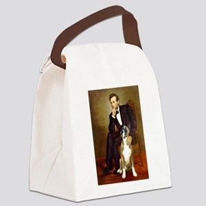 Lincoln & his Boxer Canvas Lunch Bag