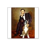 Lincoln & his Boxer Square Sticker 3