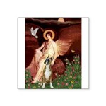 Seated Angel & Boxer Square Sticker 3