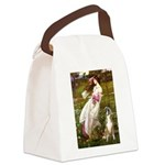 Windflowers & Boxer Canvas Lunch Bag